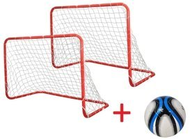 2 IN 1 TARGET SHOOT SOCCER FOOTBALL GOALS AXER SPORT
