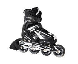 ADJUSTABLE INLINE SKATES BLACK
