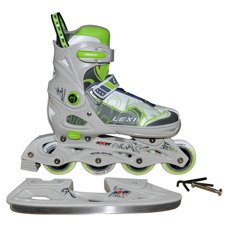 ADJUSTABLE INLINE SKATES + ICE SKATES  2 w 1  LEXI