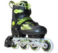 ADJUSTABLE INLINE SKATES ULTRA GREEN A0809-M