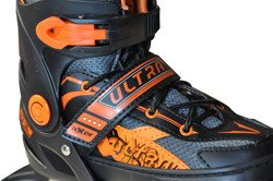 ADJUSTABLE INLINE SKATES ULTRA ORANGE A0802-S