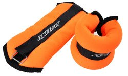 ANKLE WEIGHTS WITH VELCRO ORANGE 2x1,5 KG AXER SPORT
