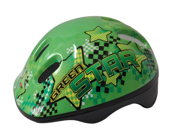 BICYCLE HELMET HAPPY STAR GREEN