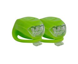 CLIP ON BICYCLE LIGHT GREEN AXER BIKE