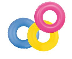 FLUORESCENT SWIM RING 91 CM