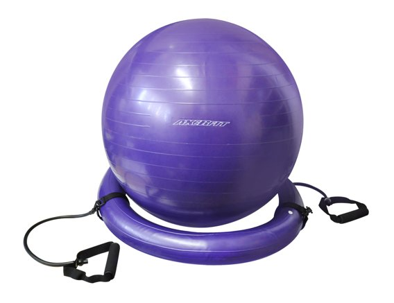 GYMNASTIC BALL WITH ROPES & RING AXER SPORT