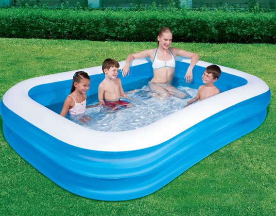 INFLATABLE POOL BLUE 778L