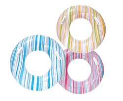 INFLATABLE SWIM RING STRIPED 91CM